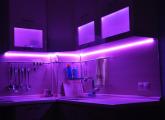 LED/ლედ ნათურების მონტაჟი სამზარეულოს კარადებში და ნებისმიერ ავეჯში